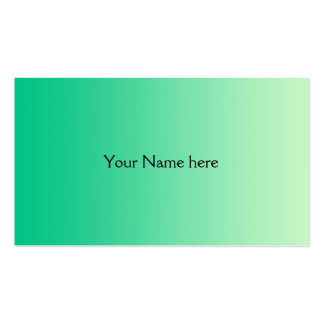 ONLY COLOR gradients - ocean green Business Card