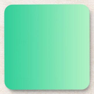 ONLY COLOR gradients - ocean green Coaster
