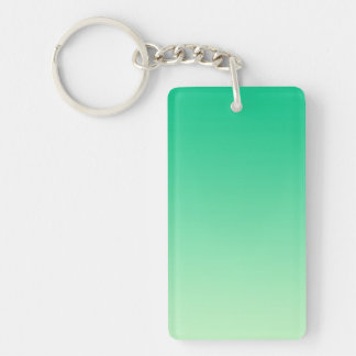 ONLY COLOR gradients - ocean green Double-Sided Rectangular Acrylic Keychain