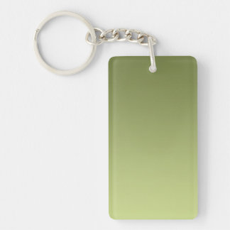 ONLY COLOR gradients - olive green Keychain