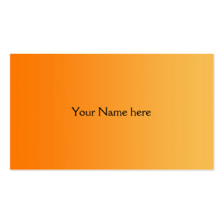 ONLY COLOR gradients - orange Business Card