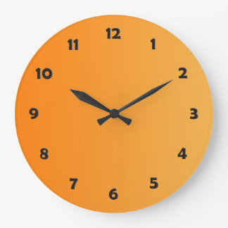 ONLY COLOR gradients - orange + clock face