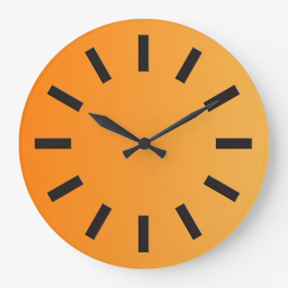 ONLY COLOR gradients - orange + clock face I
