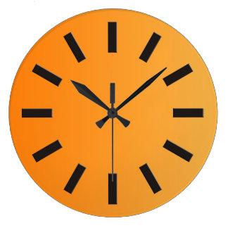 ONLY COLOR gradients - orange + clock face I Clock