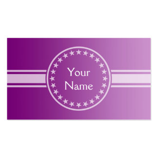 ONLY COLOR gradients - plum + your text Business Card