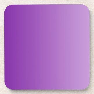 ONLY COLOR gradients - purple Beverage Coaster