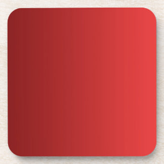 ONLY COLOR gradients - red love Coaster
