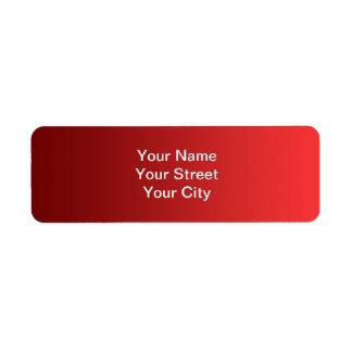 ONLY COLOR gradients - red love Custom Return Address Label