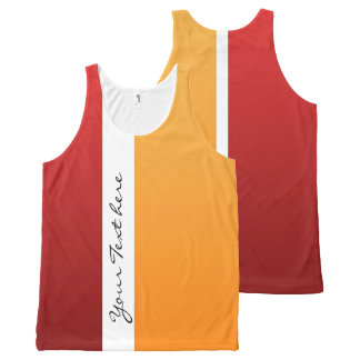 Only Color gradients - red & orange All-Over-Print Tank Top