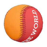 Only Color gradients - red & orange Baseball