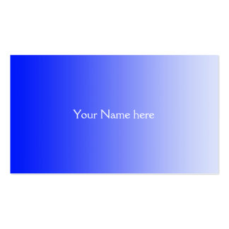 ONLY COLOR gradients - royal blue Business Card