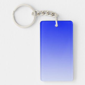 ONLY COLOR gradients - royal blue Double-Sided Rectangular Acrylic Keychain