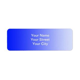 ONLY COLOR gradients - royal blue Return Address Label