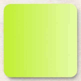 ONLY COLOR gradients - spring green Beverage Coaster