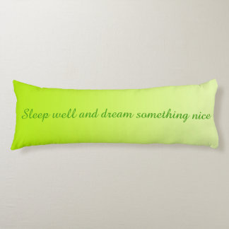 ONLY COLOR gradients - spring + your text Body Pillow