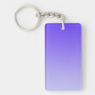 ONLY COLOR gradients - violet Double-Sided Rectangular Acrylic Keychain