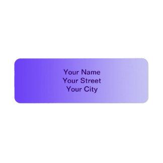 ONLY COLOR gradients - violet Return Address Labels