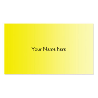 ONLY COLOR gradients - yellow lemon Business Card