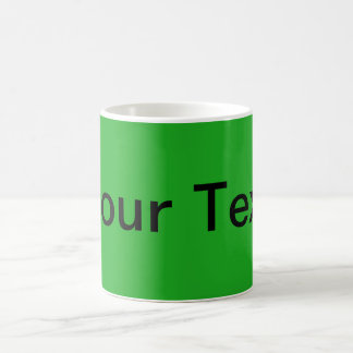 ONLY COLOR / grass green + your text Classic White Coffee Mug