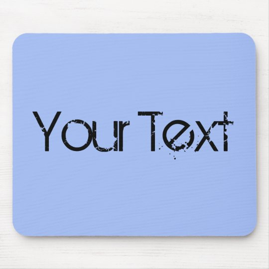 ONLY COLOR / light blue + your text Mouse Pad