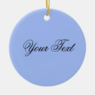 ONLY COLOR / light blue + your text Double-Sided Ceramic Round Christmas Ornament