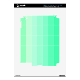 Only Color Lime Green Ombre Decal For iPad 3