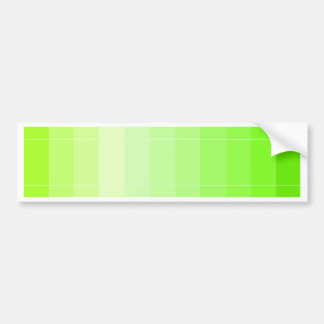 Only Color Lime Yellow Ombre Bumper Sticker
