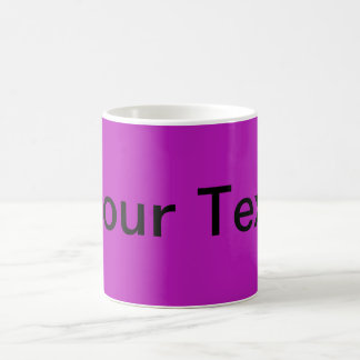 ONLY COLOR / magenta + your text Classic White Coffee Mug