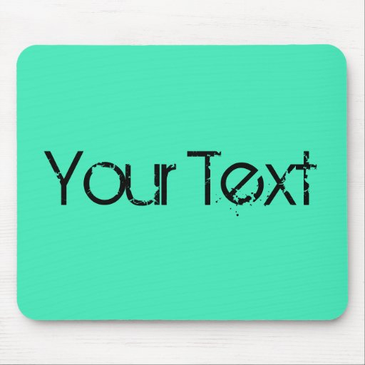 ONLY COLOR / mint + your text Mouse Pad