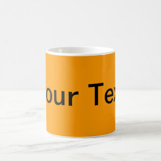 ONLY COLOR / orange + your text Classic White Coffee Mug