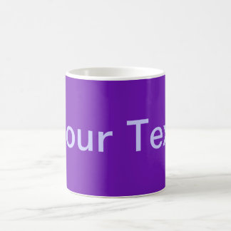ONLY COLOR / purple + your text Classic White Coffee Mug