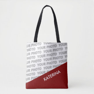 ONLY COLOR RECTANGLES - dark red + your ideas Tote Bag