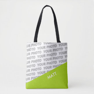 ONLY COLOR RECTANGLES - spring green + your ideas Tote Bag