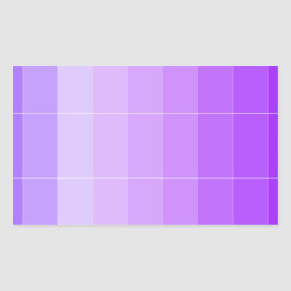 Only Color Violet Purple Ombre Rectangular Sticker