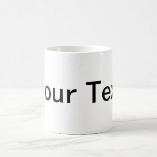 ONLY COLOR / white + your text Classic White Coffee Mug