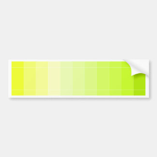 Only Color Yellow Ombre Bumper Sticker