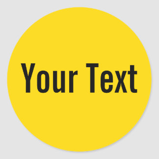ONLY COLOR | yellow + your text Classic Round Sticker