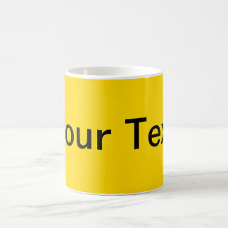 ONLY COLOR / yellow + your text Classic White Coffee Mug