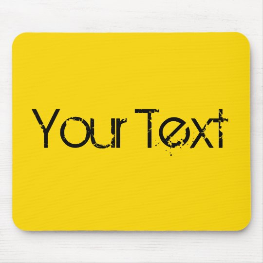 ONLY COLOR / yellow + your text Mouse Pad