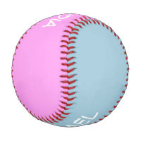 Only Colors blue & pink   your names & ideas Baseball