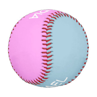 Only Colors blue & pink + your names & ideas Baseball