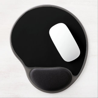 Only cool black solid color background gel mouse pad