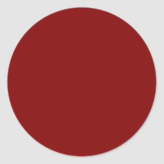 Only cool red wine maroon solid color OSCB04 Classic Round Sticker