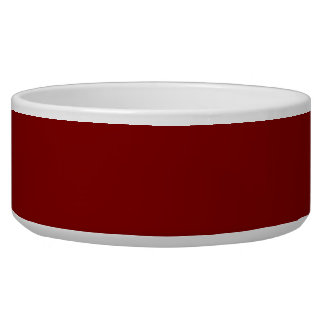 Only cool red wine maroon solid color OSCB04 Dog Water Bowl