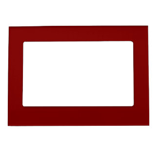 Only cool red wine maroon solid color OSCB04 Picture Frame Magnets