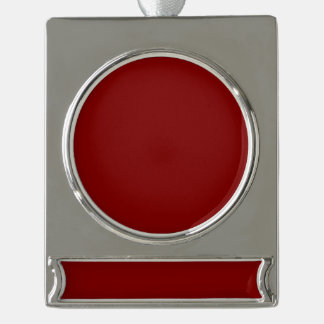 Only cool red wine maroon solid color OSCB04 Silver Plated Banner Ornament