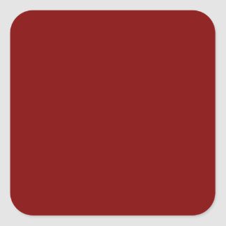 Only cool red wine maroon solid color OSCB04 Square Sticker