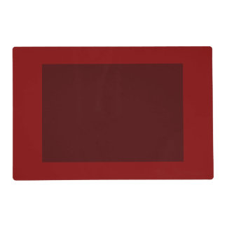 Only cool red wine maroon solid panel OSCB04 Placemat