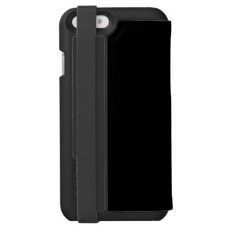 Only cool solid color black background incipio watson™ iPhone 6 wallet case