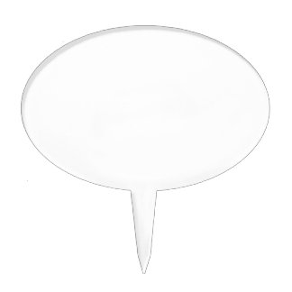 Only cool white modern solid color OSCB26 Cake Topper